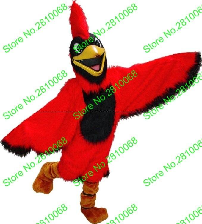 QIANYIDUOO MaKe EVA Material Helmet Plush Cardinal Mascot Costumes cartoon Apparel Cosplay bird mascot costumes 332