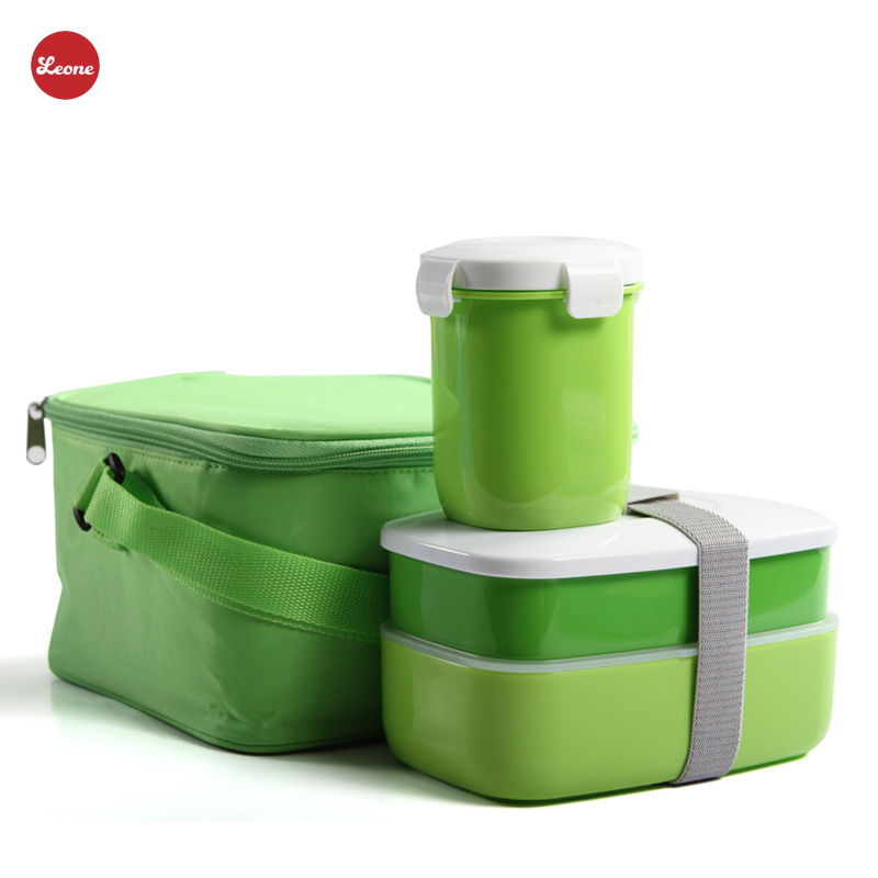 Combination suit Lunch Boxes Soup mug Japanese Tote insulation Bag Cooler Microwave Food Fruit Storage food Containers Bento box