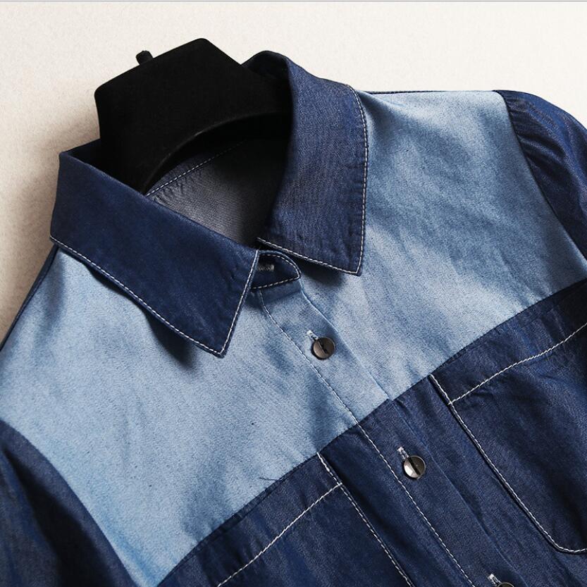 Jeans Marine Longs Mi 2019 Marque Femmes Automne Robe Printemps Avec Denim Pour Supérieure Patchwork Décontracté Qualité Bleu Ceinture 87SwOaq