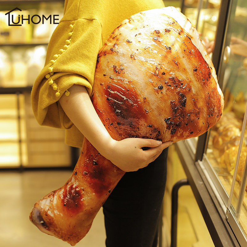 3D Simulation Food Shape Plush Pillow Creative Chicken Sausage Plush Toys Stuffed Sofa Cushion Home Decor Funny Gifts For Kids