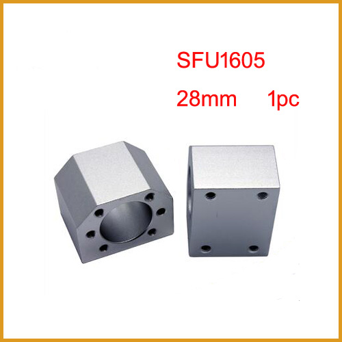 sfu1605 <font><b>ballscrew</b></font> <font><b>nut</b></font> housing bracket holder for SFU1605 Aluminium Alloy Material for <font><b>1605</b></font> ball screw image