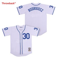 Throwback Jersey Men s 30 Rodriguez Jerseys The Sandlot Movie Baseball  Jerseys White Shirt Stiched Size S-XXXL Free Shipping 13369a82d