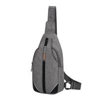 SINPAID Chest Shoulder Bag Anti Theft Buckle Design Women Men Teenager Waterproof Crossbody Sling Messenger For