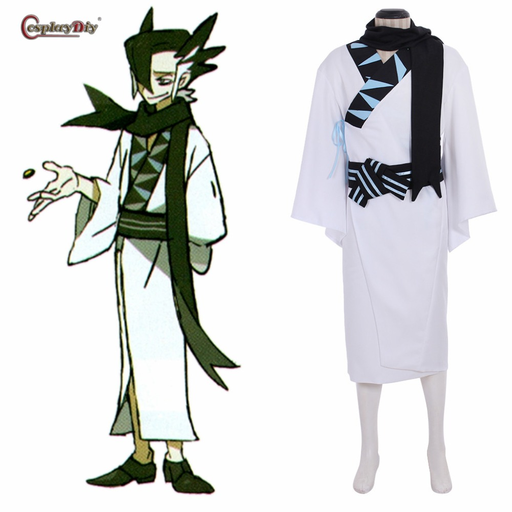 Cosplaydiy Game Pokemon Sun and Moon Cosplay Giima Grimsley Male Cosplay Costume For Men Halloween Custom Made
