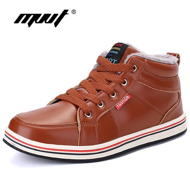 MVVT Super Warm Männer Winter stiefel Qualität PU stoff Wasserdicht Schnee Stiefel Männer Winter Schuhe herren Stiefeletten Mit pelz Männer Schuhe