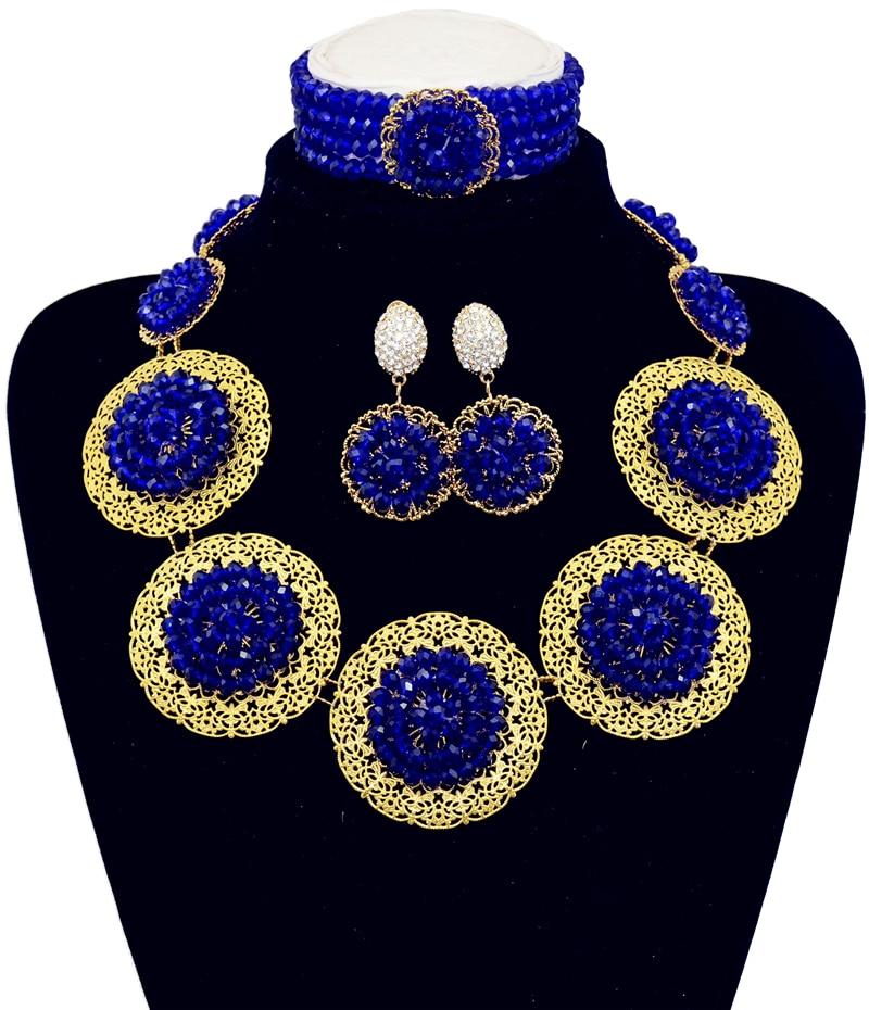 Nigerian Wedding African Beads Jewelry Sets Du Bai Handmade ...