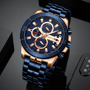 Image 4 - New Luxury Brand CURREN Quartz Watches Sporty Men Wristwatch with Stainless Steel Clock Male Casual Chronograph Watch Relojes