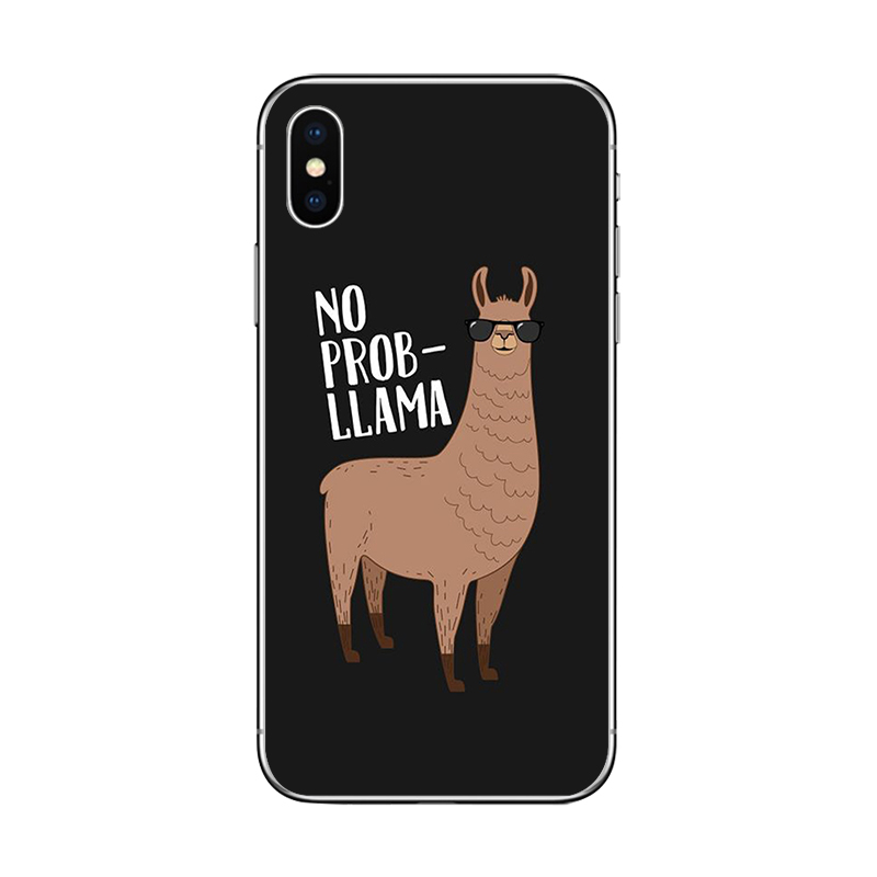 ciciber Cute Cartoon Animals Llama Alpaca Cover For Apple iPhone 7 8 6 6s Plus X XR XS MAX 5S SE Phone Case Soft Silicone TPU in Fitted Cases from Cellphones Telecommunications