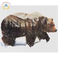 Ölgemälde durch zahlen handgemalte leinwand malerei wand kunst wohnkultur tier bilder bär 40X50 cm diy ditigal malerei SY005