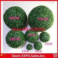 Nowy 2 Sztuk 48 CM Sztuczna Trawa Topiary Piłki Out/Kryty Wiszące Kulki Na Wesele Dom Yard Ogród dekoracji Kwiat Piłka