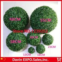 Nuevo 2 Unids 48 CM Césped Artificial Topiary Balones Fuera/Bola Colgante Para El Banquete de Boda En Casa de Interior Patio Jardín decoración de Bolas De Flores