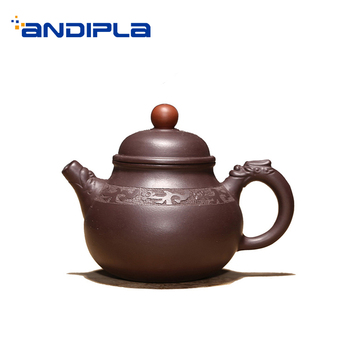 120ml Yixing Purple Clay Teapot Natural Raw Ore Purply Mud Zisha Small Tea Pot Kung Fu Tea Set Drinkware Teaware Art Decoration