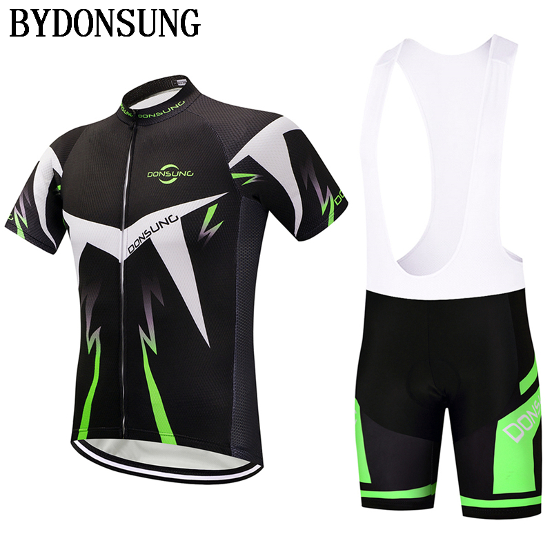 Hot Cycling Set Maillot Ropa Ciclismo MTB Bike Clothes Sportswear Cycling Jersey Set Men Summer Racing Bicycle Clothing Set|Cycling Sets| |  - title=