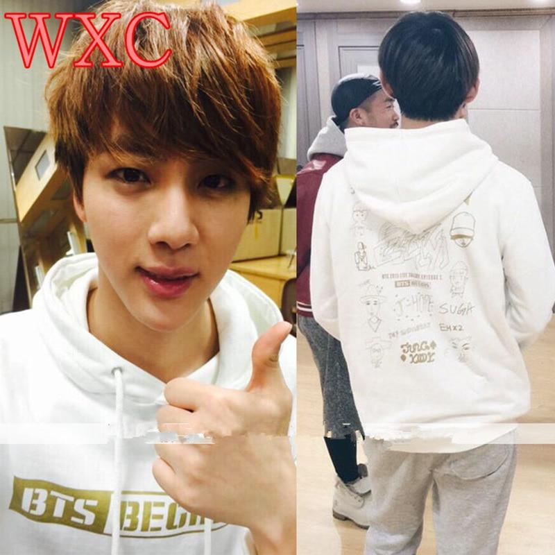 Kpop BEGINS Bangtan Boys Hoodies Casual Pullovers Winter Coat Unisex Korean JIMIN Rap Monster Sweatshirt Jung Kook WXC