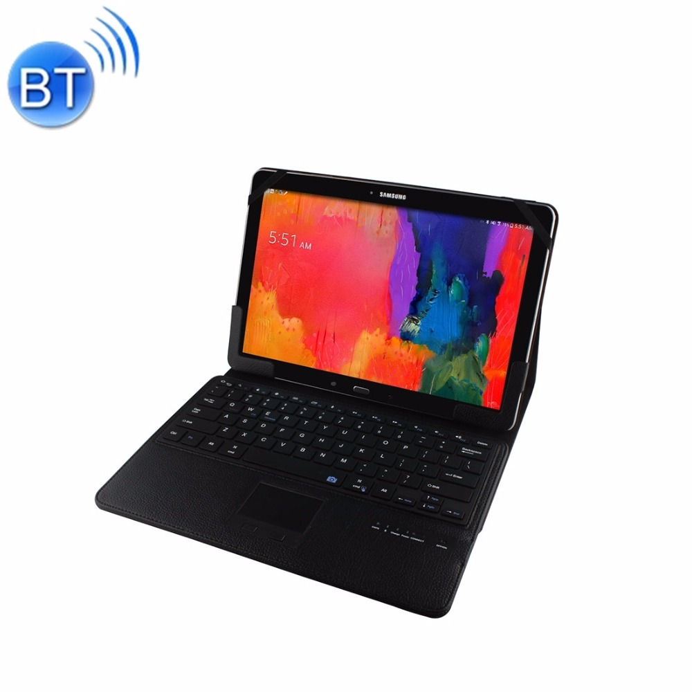For 12.2 inch Microsoft Surface Pro 4 & Pro 3 Separable Horizontal Flip Leather Case + Bluetooth Keyboard with Touchpad & Holder
