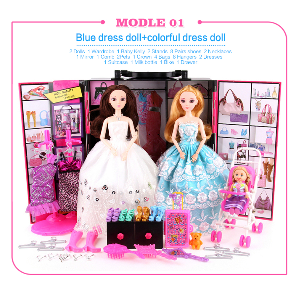 ФОТО ucanaan toys beauty fashionista ultimate closet fashion set princess doll more 50 itmes dolls and accessories best gift box diy
