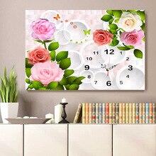 Hot Sale Flower diy Diamond Painting, Diamond Mosaic, Diamond Embroidery Wall Clock, Living Room Home Decor, DIY Crafts