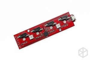 Image 3 - Xd004 xiudi 4% مخصص لوحة المفاتيح الميكانيكية 4 مفاتيح التبديل المصابيح PCB مبرمجة قابلة للتبديل الساخن مفتاح الماكرو الفضة حافظة منفذ مايكرو