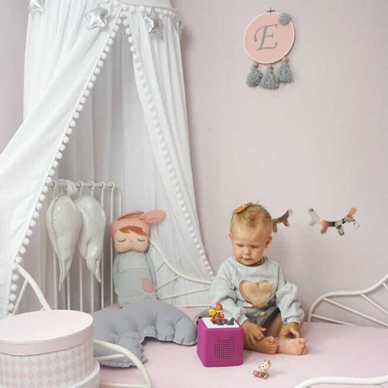 Хлопковое украшение детской комнаты шары москитная сетка детские балдахин круглая кроватка сетка палатка реквизит для фотосъемки Baldachin 245 см