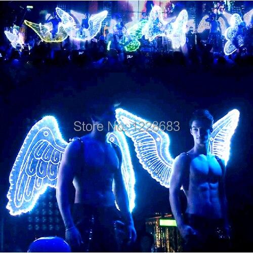 Nouveauté 9 Styles de haute qualité grandes ailes lumineuses Costume ailes de lumière Led femmes hommes Led ailes