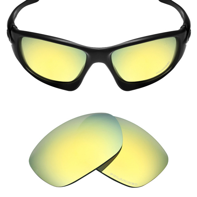 0bd3e6905a Mryok+ POLARIZED Resist SeaWater Replacement Lenses for Oakley Ten Sunglasses  24K Gold