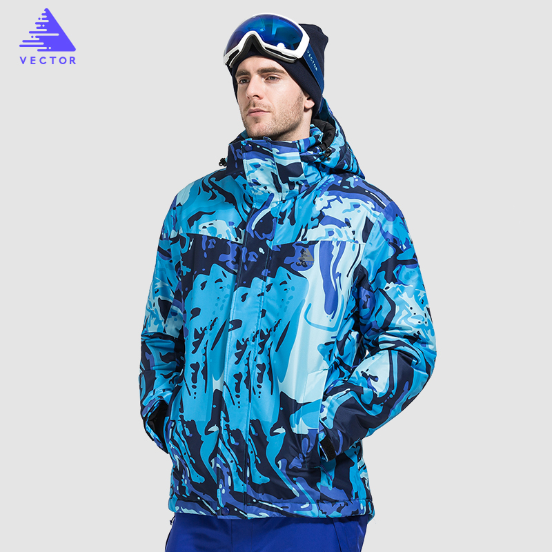 VECTOR Brand Ski Jackets Men Warm Winter Coat Windproof Waterproof Snowboard Jackets Outdoor Snow Skiing Clothes HX24 2017 hot sale gsou snow high quality womens skiing coats 10k waterproof snowboard clothes winter snow jackets outdoor costume