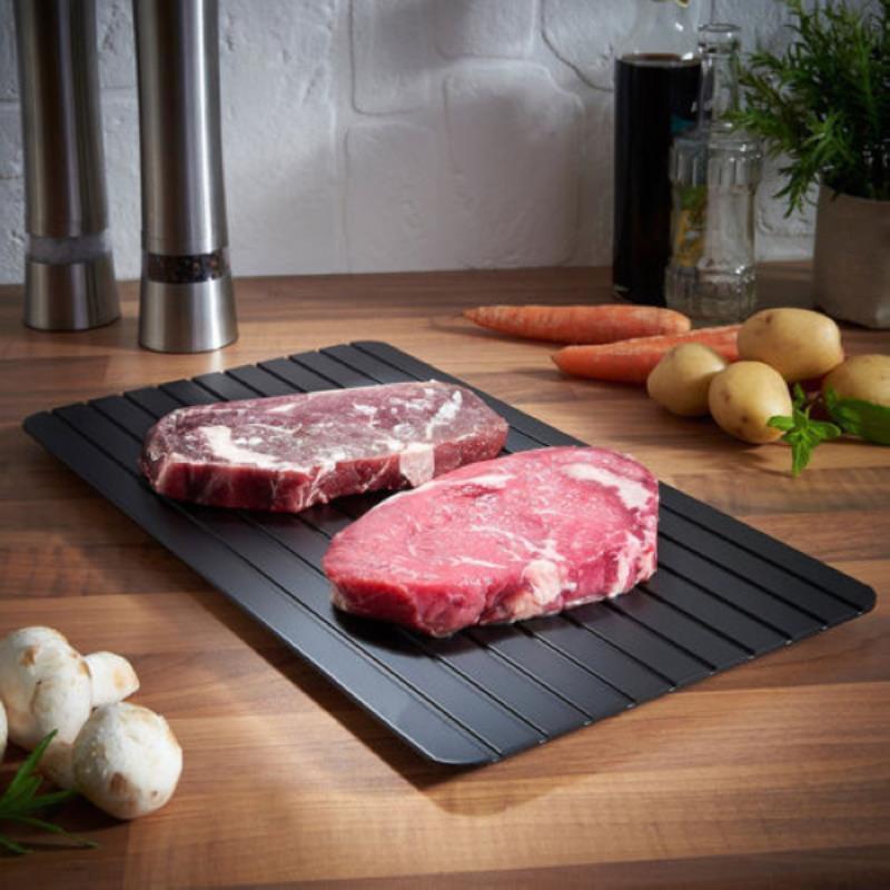 1 unid rápida descongelación bandeja de carne rápida Seguridad descongelación bandeja para alimentos congelados carne cocina Accesorios mayitr nueva llegada