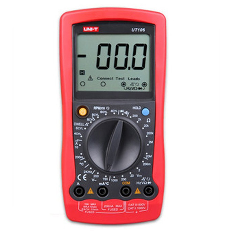 Original UNI-T UT106 Handheld Manual Range automotive multimeter Multi-Purpose Meters w/ Temperature&Frequency Test multitester  цены