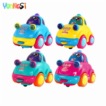 YunNasi 8pieces Alloy Car Baby Toys LED Light Car Model Music Vehicle Universal Wheel Electronic Toy For Boys Kids Toys Gifts