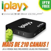 Iplay ip ТВ коробка Бразильский Португальский ТВ потокового box Live ТВ фильмы Бразилии Media Player лучше, чем B ТВ B9 H ТВ 6 H ТВ A2