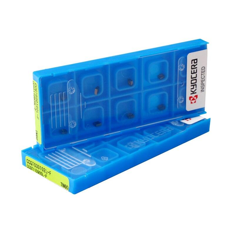 CCGT030102L F TN60 CCGT030104L F TN60 kyocera orighinal insert use for C04H SCLCR03 CCGT 030102 L F TN60