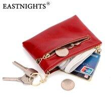 2016 New genuine leather high quality women mini wallet oil wax zipper change  womens coin bag 2087