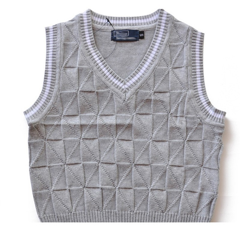 12ae6c7ed Baby Boy Sweater Vest School V-Neck Uniforms Pullover Sweaters With ...