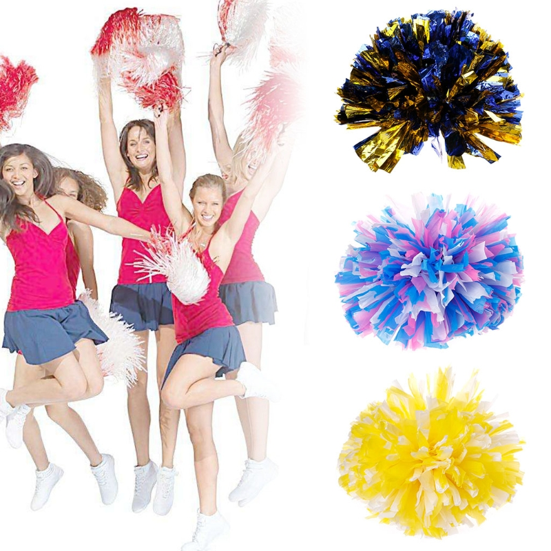 US Handheld Pom Poms Cheerleader Cheerleading Cheer Square Dance Party Decor