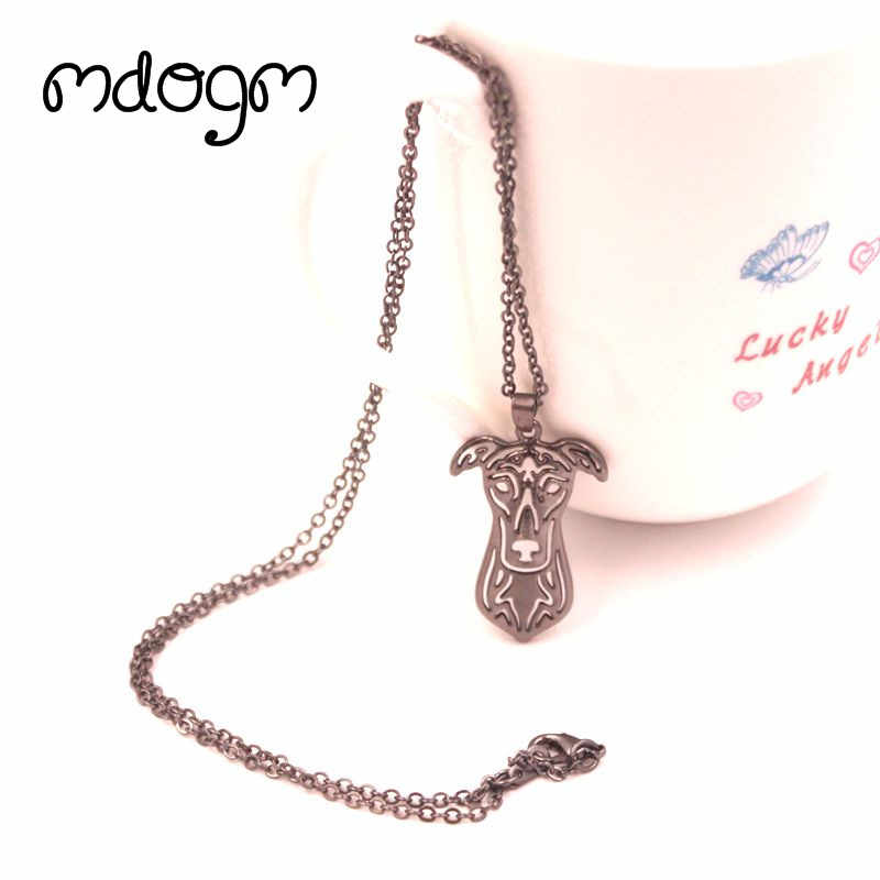 2018 Cute Greyhound Necklace Dog Animal Pendant Gold Silver Plated Jewelry For Women Male Female Girls Ladies Kids Boys N135