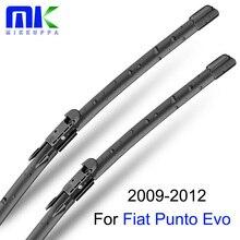 Mikkuppa стеклоочистители ветрового стекла для Fiat Punto EVO 2009-2012 лобовое стекло силиконовые резиновые ЩЕТОЧНЫЕ аксессуары автозапчасти