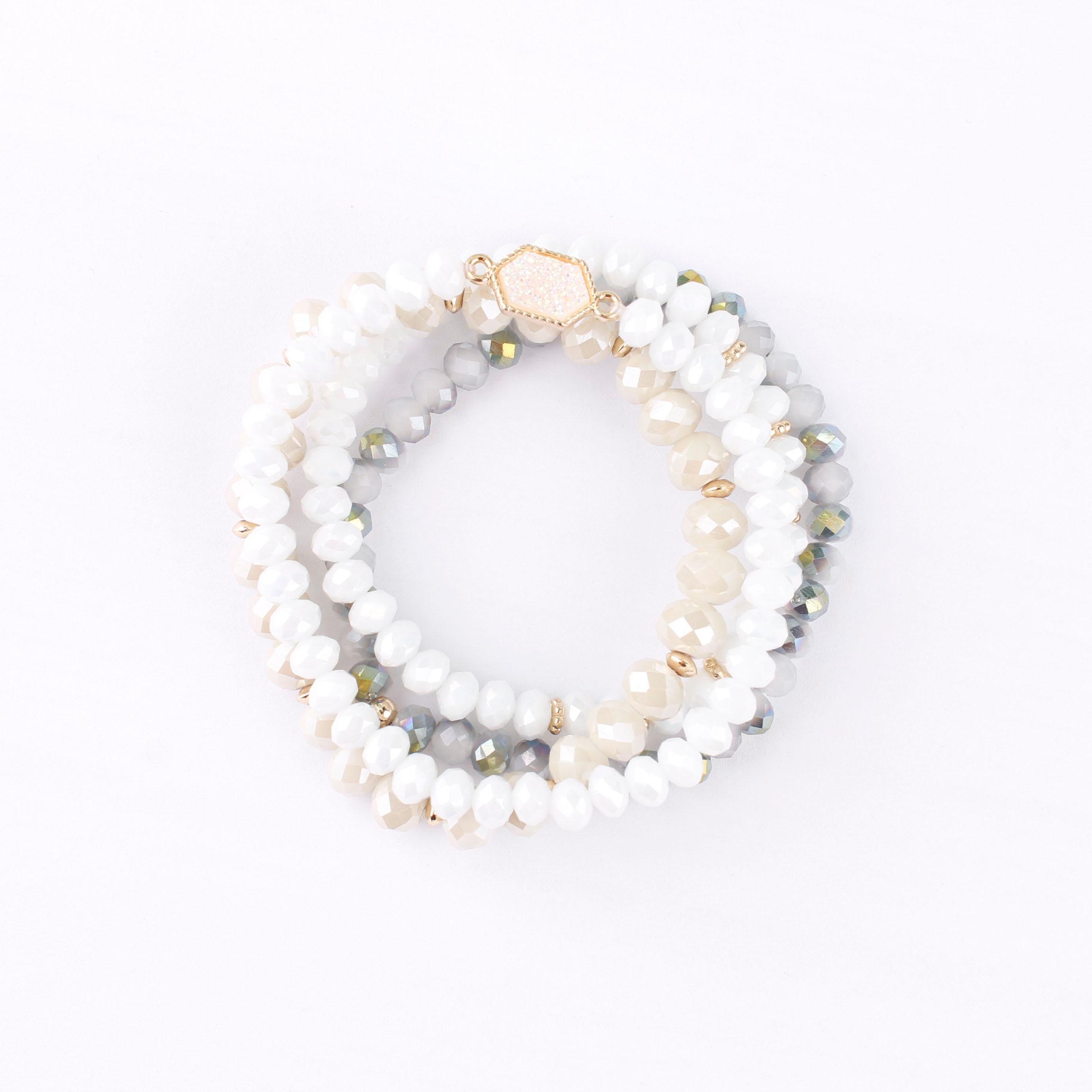 Femmes Bonbons Couleur Perles Disque Pendentif et Cerceau Boucles D/'Oreilles Pendantes Bijoux Cadeau D
