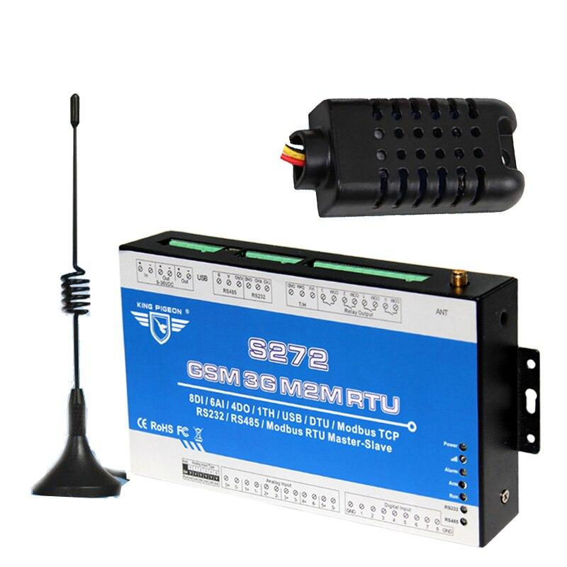 3G 4G RTU Modbus GSM Sistema de Monitoramento De Temperatura E Umidade Interruptor Remoto Alerta SMS APP Com Chamada Gratuita S272