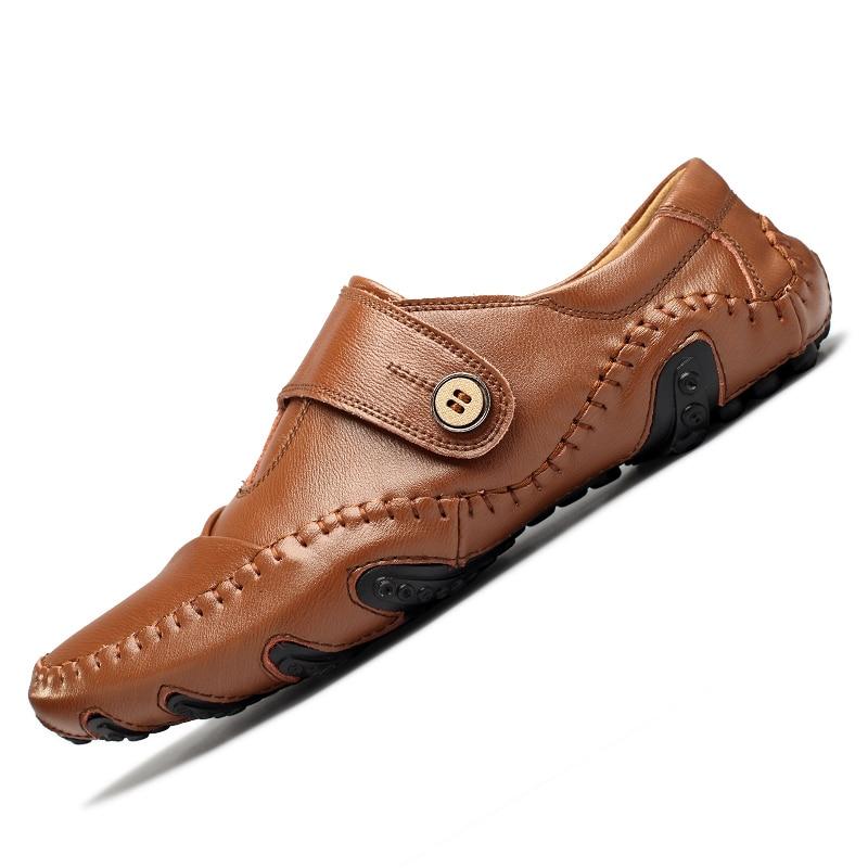 Moda británica de estilo genuino Causal zapatos de los hombres de - Zapatos de hombre - foto 3