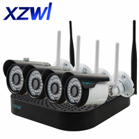 XZWL Wireless 960P NVR Kit CCTV System Security Camera 4CH Outdoor Indoor 1 3MP Ip Camera