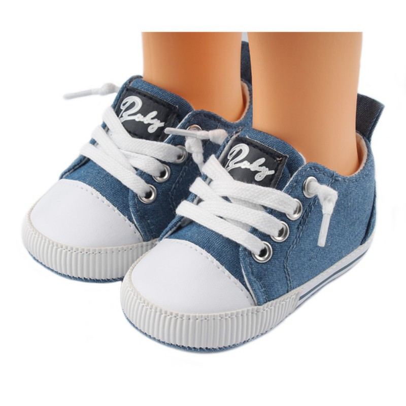 0-12M Baby Canvas Shoes Canvas Toddler Shoes High Top Soft Anti-Slip Sole Baby Shoes Baby Casual Shoes