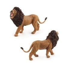 GEEK KING Simulation Animal World Zoo animal model toys Figure Action Toy Simulation Animal Lovely PVC Lion Toy For Kids стоимость