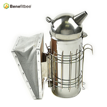 Benefitbee Beekeeping Round Bee Smoker European with Inner Tank Long Size Beehive Bkeeping Equipment