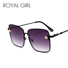 7e4c1907ed69f MENINA REAL Sem Aro Quadrados Óculos De Sol Mulheres Marca Verão Abelha  Pequena Decoração Óculos Rosa Óculos de Lente Gradiente .