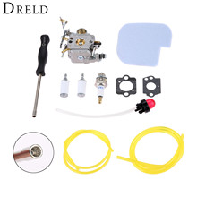 DRELD Carburetor Carb +Gasket+Fuel Filter+Primer Bulb+Air Filter+Spark Plug+Spined Tool For Poulan Craftsman Chainsaw C1M-W26