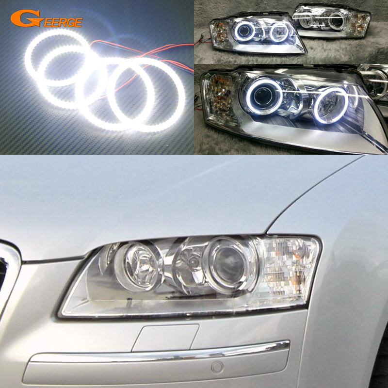 For Audi A8 S8 2004 2005 2006 2007 2008 2009 Excellent Ultra bright illumination smd led Angel Eyes kit cawanerl car 5630 smd led bulb interior led kit package white for chevrolet trailblazer 2002 2003 2004 2005 2007 2008 2009