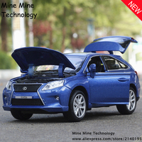Doble Aleación Diecast Coche de Caballos 1:32 envío libre Lexus rx450 modelo Tire Hacia Atrás Coche de Juguete modelo de Coche clásico Para Niños de coches juguetes