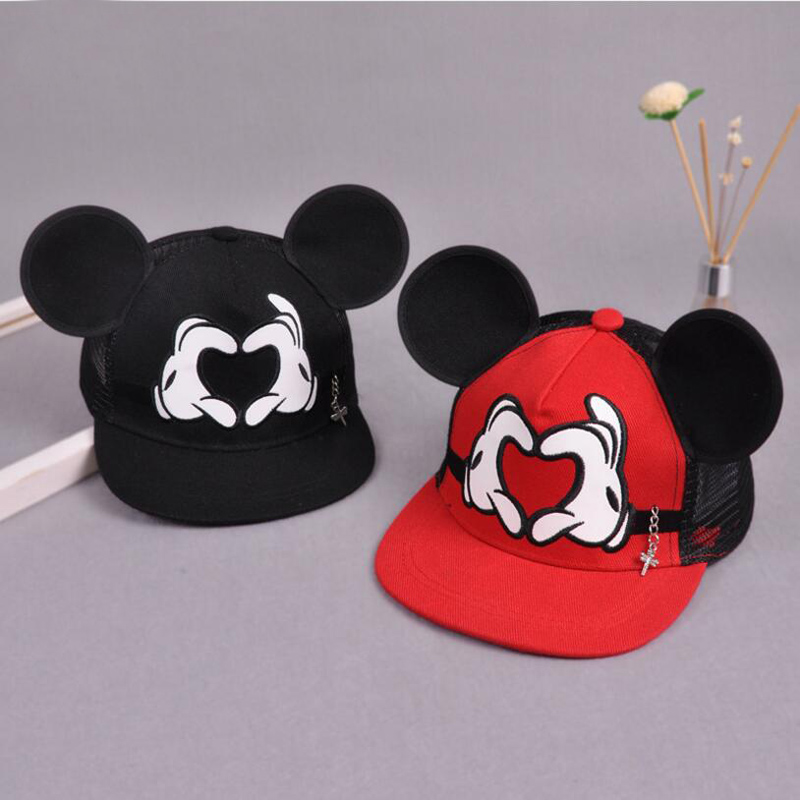 New   Baseball     Cap   Children Mesh Snapback Summer   Cap   Cartoon Mickey Lovely Sun Hat Casquette Hip Hop Hat For Boys Girls 11.11 hats