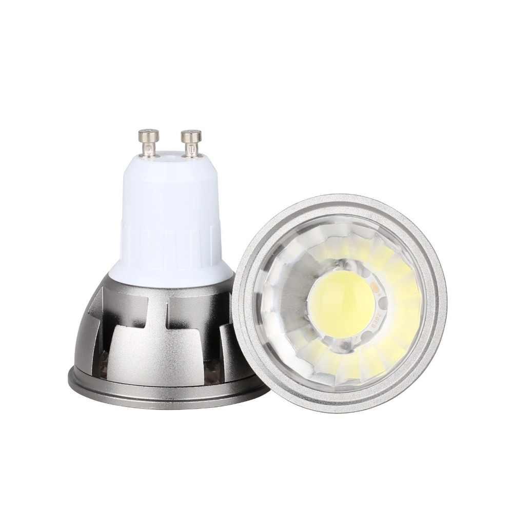 Ультра яркий светодиодный COB Светодиодный прожектор, 6 Вт, 9 Вт, 12 Вт, E26 E27 MR16 GU10 GU5.3 лампочка 12 V AC 220 V 110 V Светодиодные пятно света лампы Теплый Холодный белый