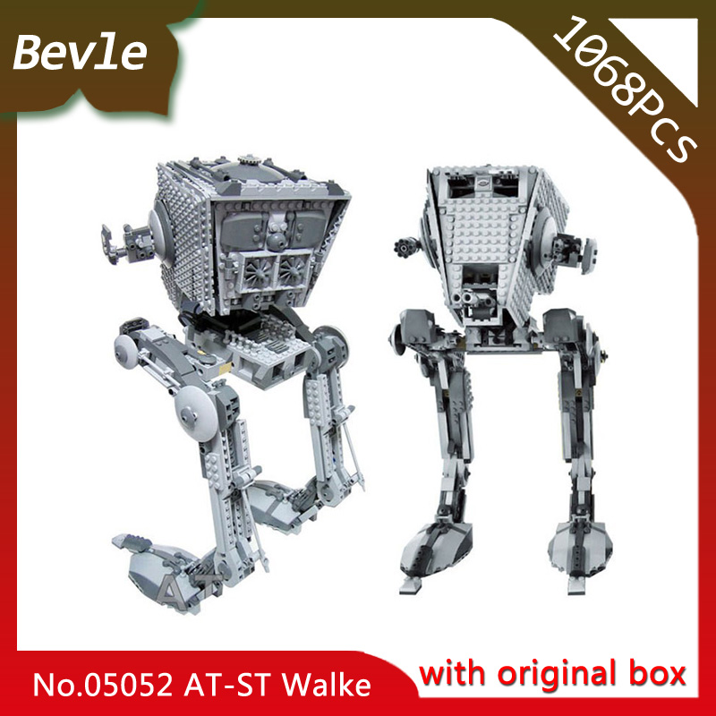 Bevle Store Lepin 05052 1068pcs with original box Star Wars Series AT-ST robot Building Blocks Bricks For Children Toys 10174 bevle store lepin 22001 4695pcs with original box movie series pirate ship building blocks bricks for children toys 10210 gift